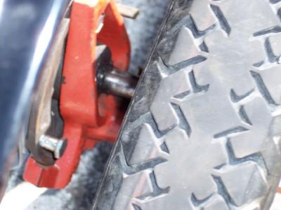 broken axle bracket