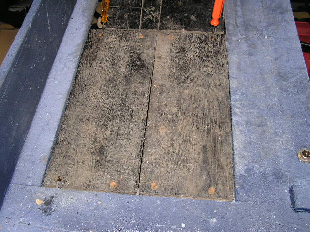 Rear floorboards