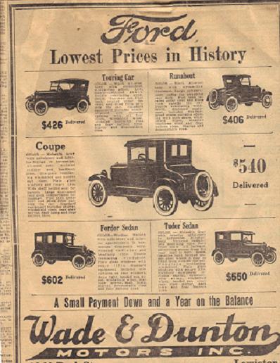 Model T Ford Forum Model T Newspaper Ads