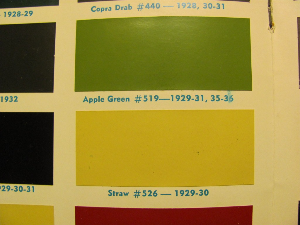 Ford Paint Color Chart >> 1929 Ford model a paint colors