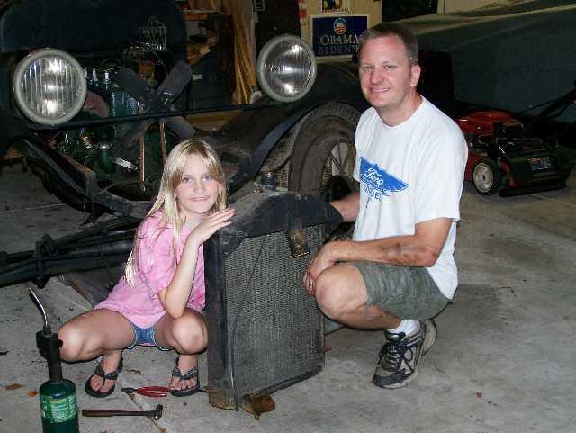 Lori's first radiator removal