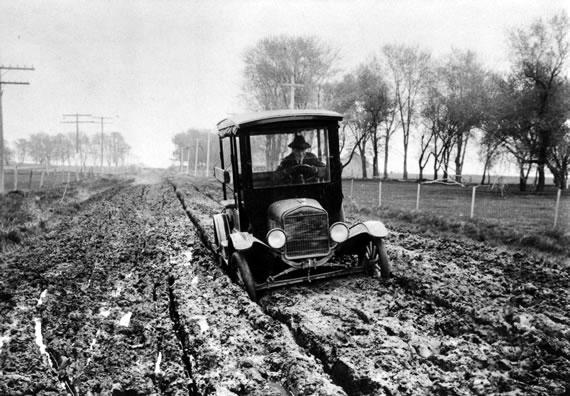 Model T on Dirt road