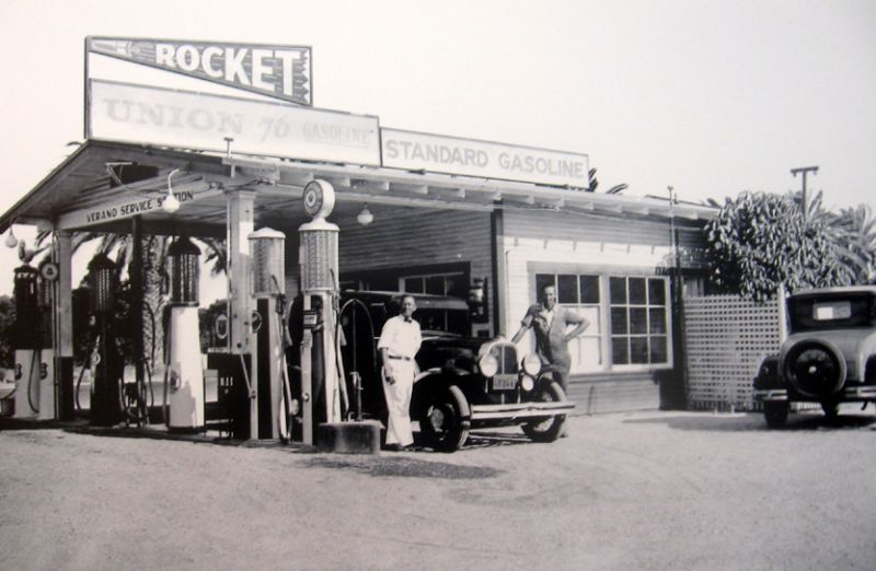Old Gas Stations In Northern California: Model T Ford Forum: Old Photo Union 76 Gas Station 1930's