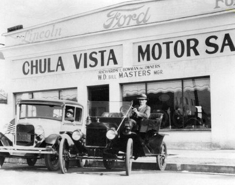 Model T Ford Forum: Old Photo - Chula Vista Motor Sales Ford Dealership