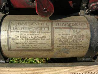 1913 Mercer Raceabout Prest-O-Lite tank