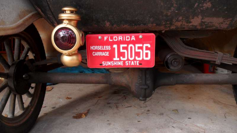 Florida Horseless Carrige Plates