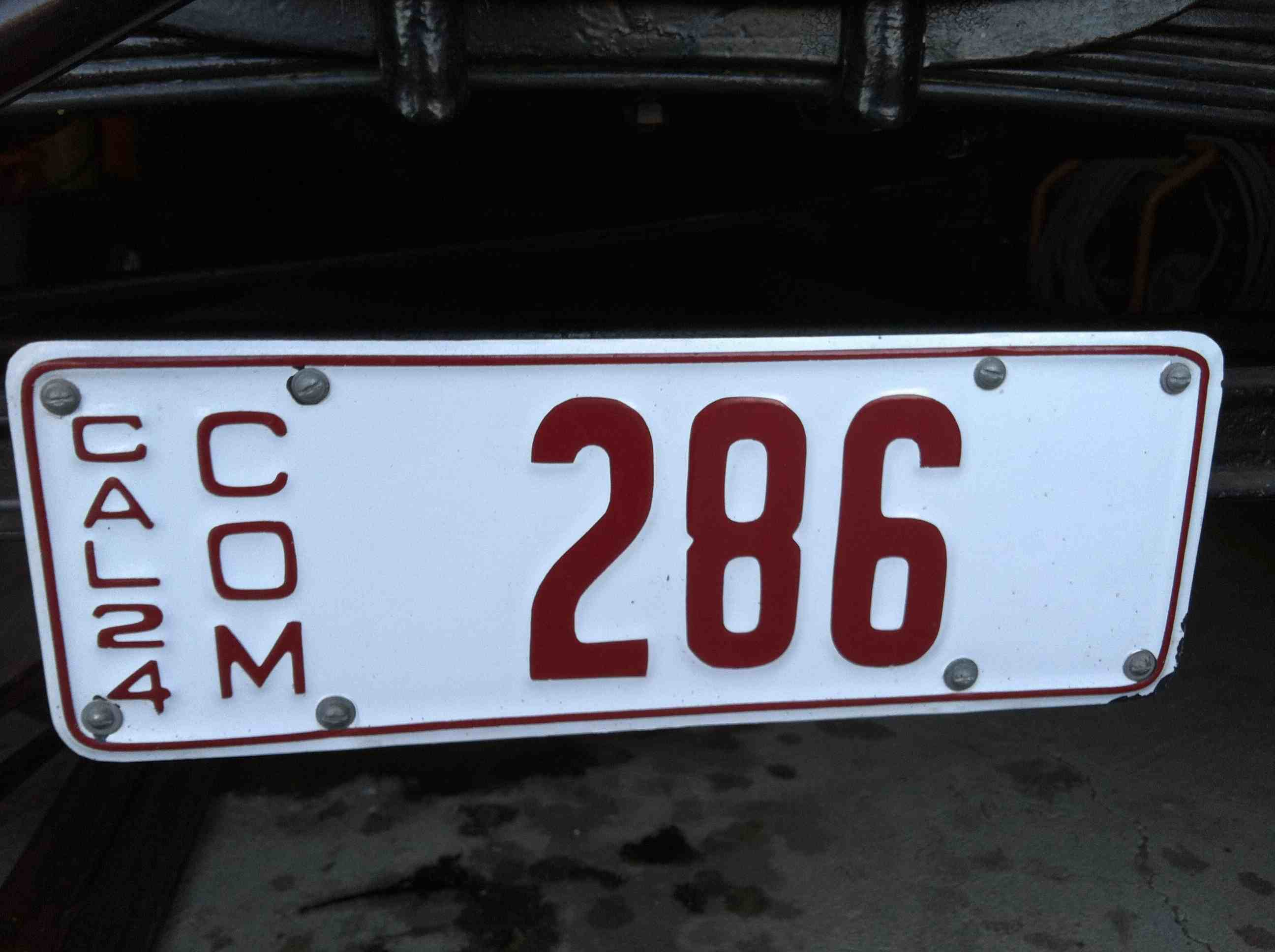 1924 California commercial plate