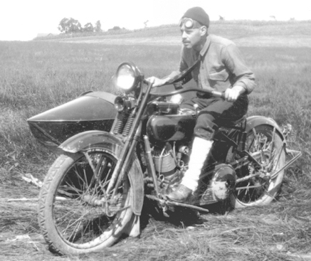 old  motorcyle photo