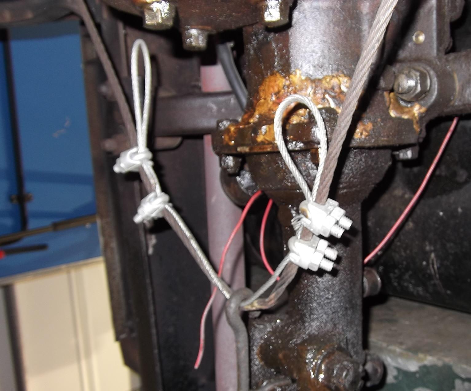 worn brake cable