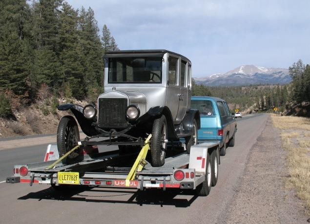 Model T Ford Forum: U haul trailer dual axle will a model T