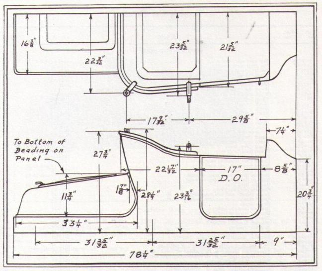 model a ford windshield dimensions