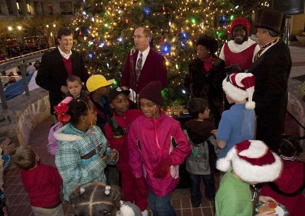 the weather made for a great turnout for this years christmas tree lighting and parade - Greenville Sc Christmas Parade