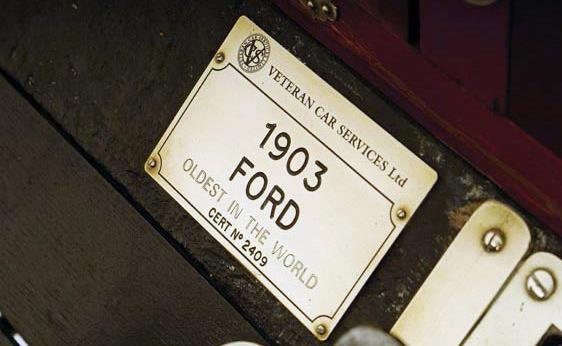 Said to be Oldest Ford in World