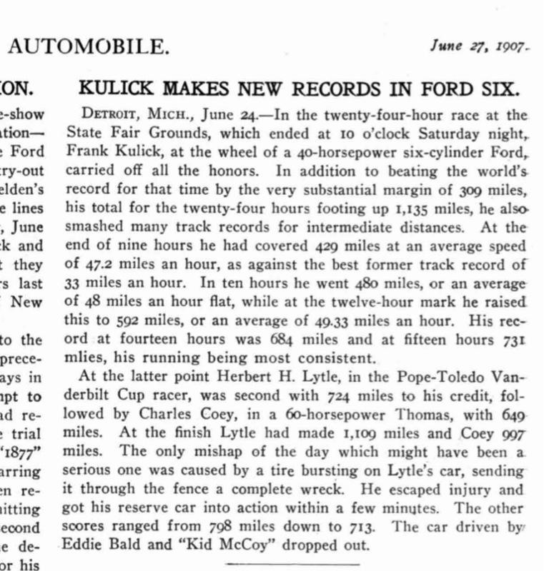 Model K wins 24 hour race