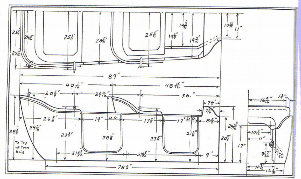 Model T Ford Forum Body Dimensions For A 1915 Touring