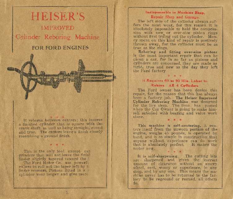 Model T Ford Forum: Engine Rebore Tool
