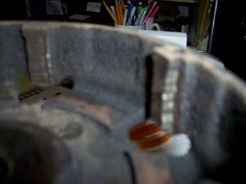 broken steel disk