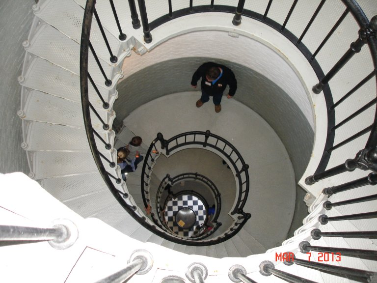 Looking down the Ponce Lighthouse Stairs