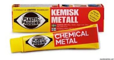 plastic padding kemisk metall