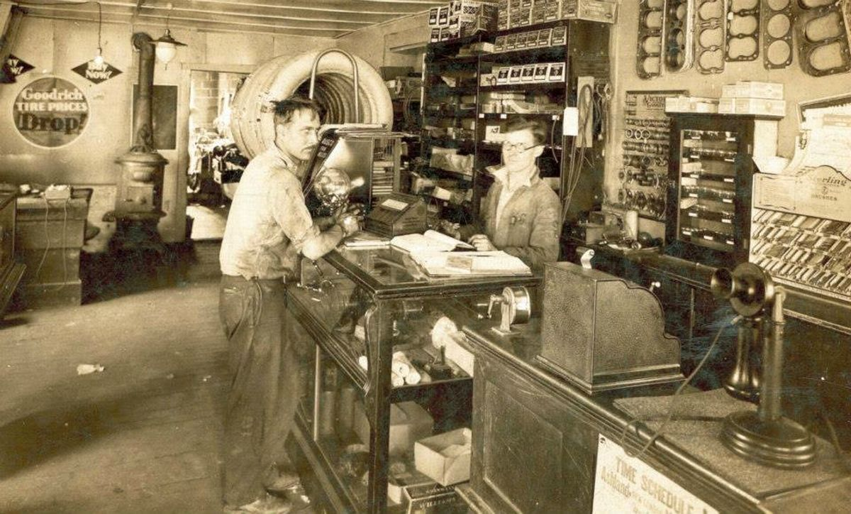 Model T Ford Forum: Old Photo - At The Auto Parts Store Counter