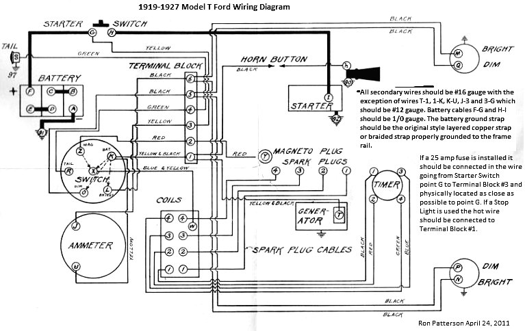 alternator wiring diagrams for a model t alternator wiring alternator wiring diagrams for a model t model t ford forum can you the