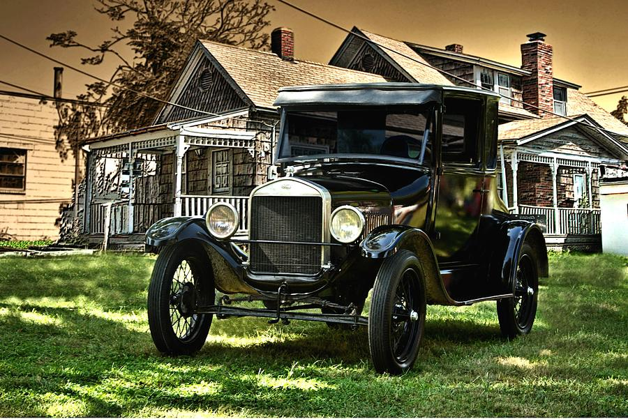 Model T Ford Forum Old Photo  1926 Model T In The Yard Artwork