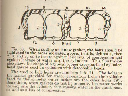 Model T Ford Forum Head Bolt Torque Sequence Pictures
