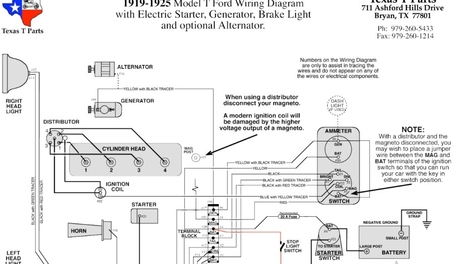 model t wiring diagram - Wiring Diagram