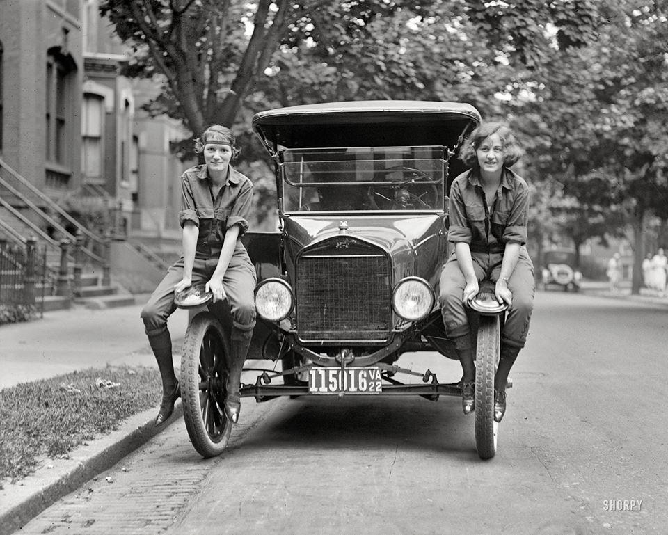 Model T & girls