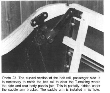rh side rear saddle bracket