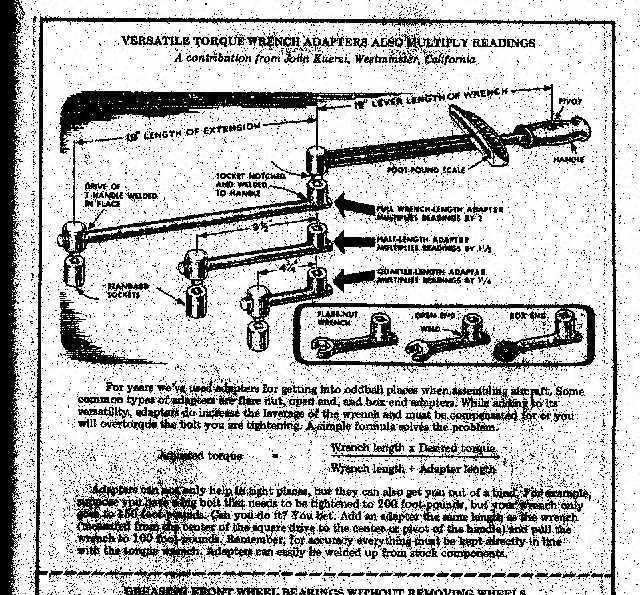 Torque adaptors