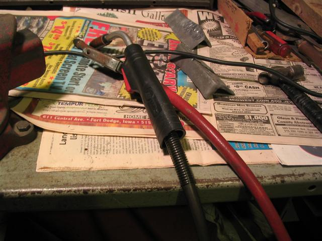 I use a wire welder to balance the small ends of the rods.