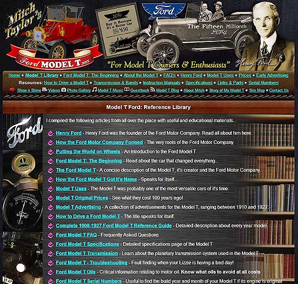 Ford Model T Reference Library