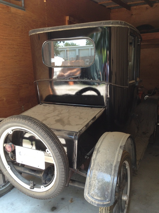 1922 Coupe in its storage unit.