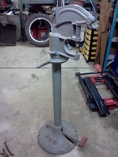 Model T Brake Rivet Tool : Model t ford forum ot krw brake clutch riveting press