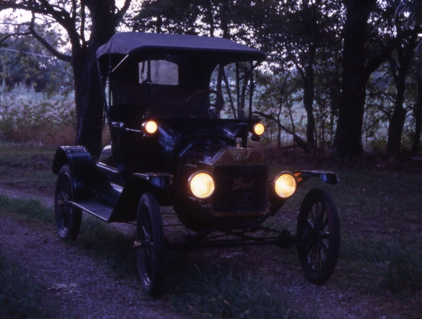 Carbide Car Headlights : Model t ford forum project