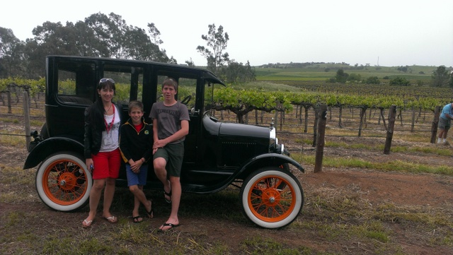 the family beside some of the Barossa Vines!