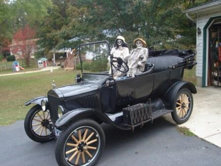 model t at halloween