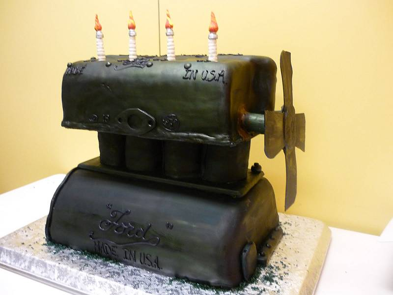 Model T Engine Cake