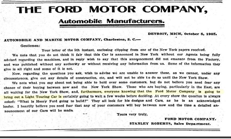 cover letter for car dealership - ford motor company shareholders
