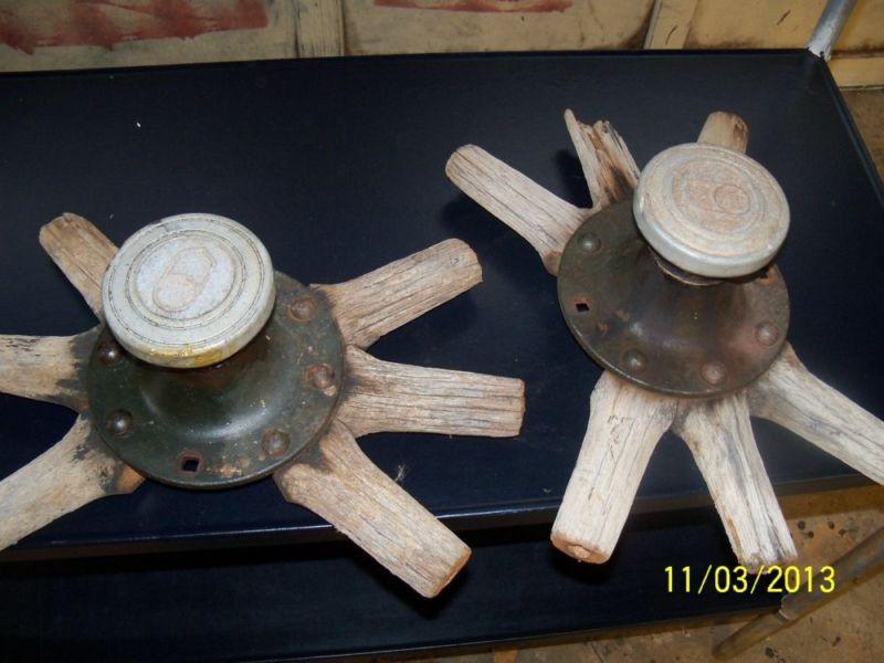 Wooden spoke hubs