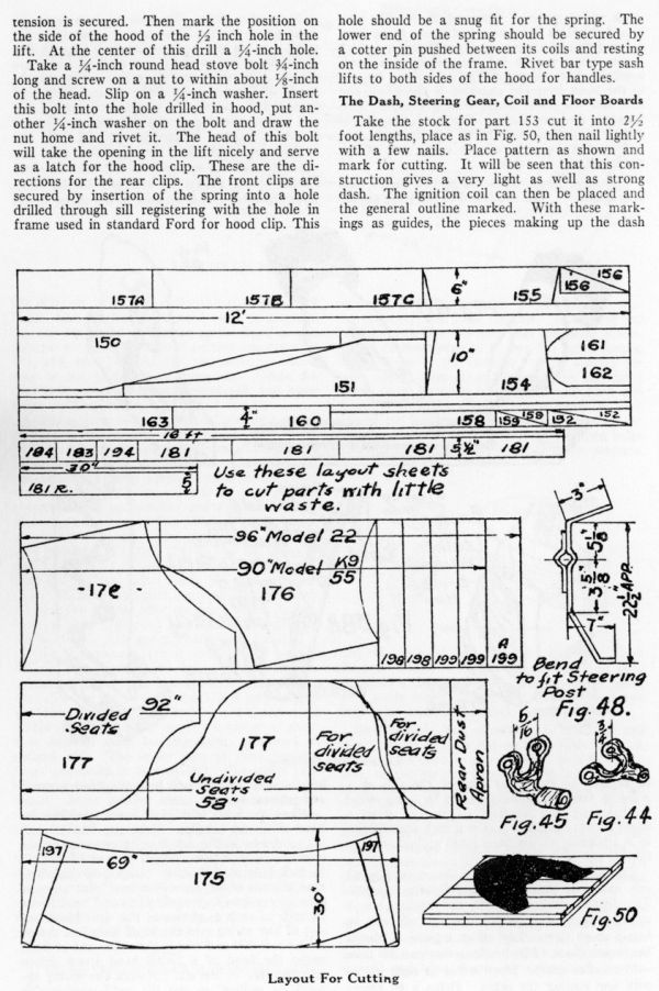 Bob Bell Ford >> Model T Ford Forum: Red-i-Kut Speedster Patterns And Plans