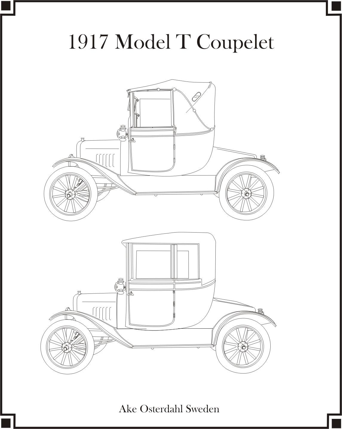 1917 Model T Coupelet