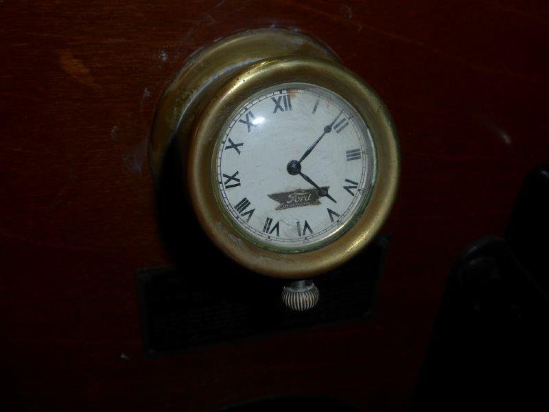Ford Script Clock