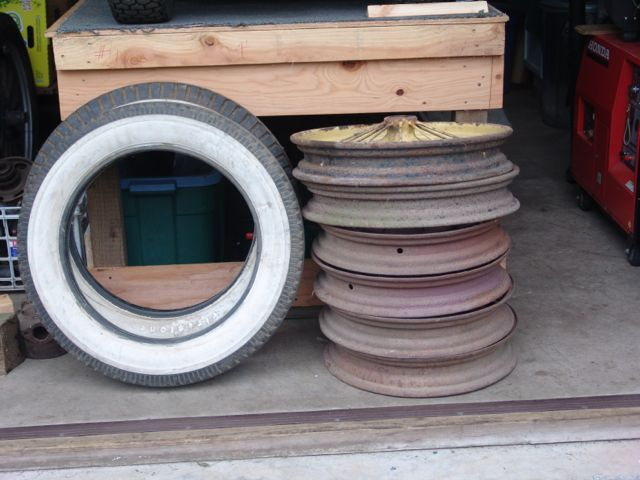 Model A wire wheels