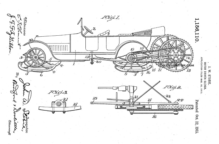 Model t ford forum ot the motor sleigh early patents for Motor vehicle trenton nj number