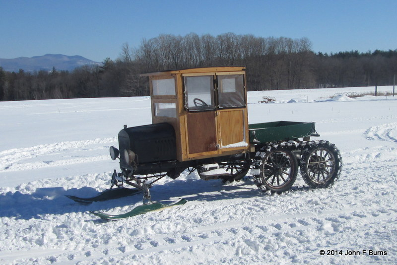 Truck Cab Model T Snowmobile