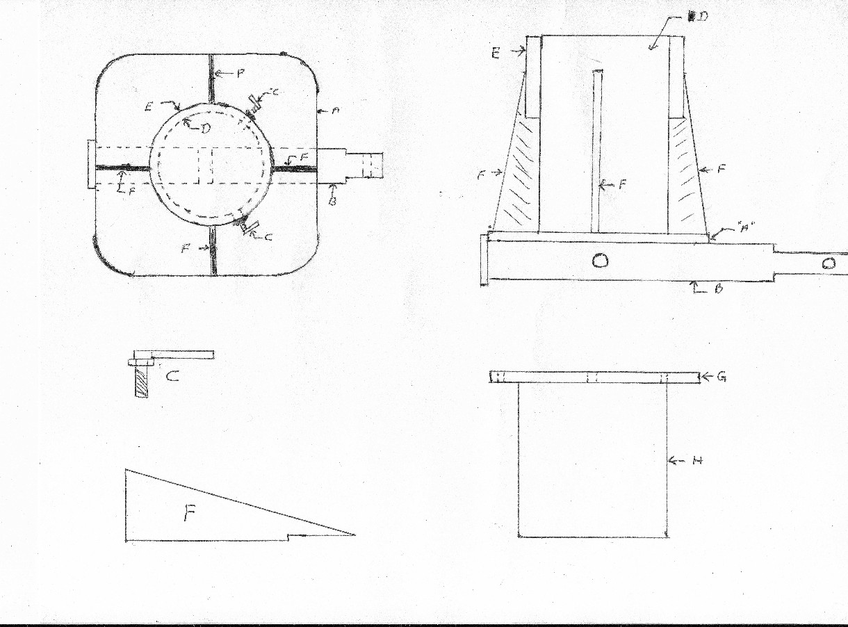 drawing of crane base