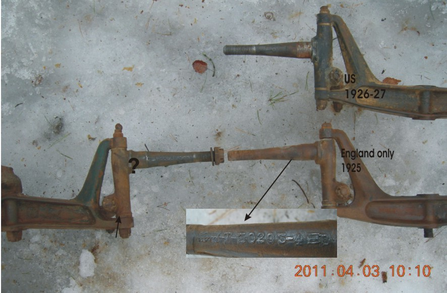 drop frame spindles and axles