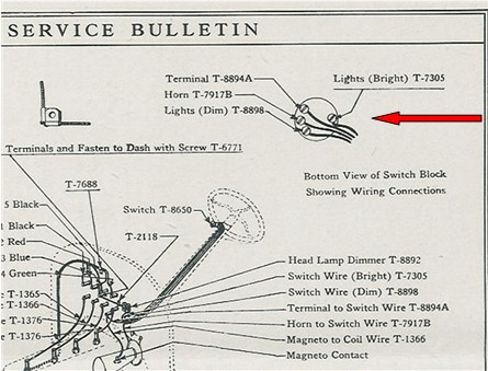 Model T Ford Forum: 1919 thru 1922 Switch Assembly for non ...